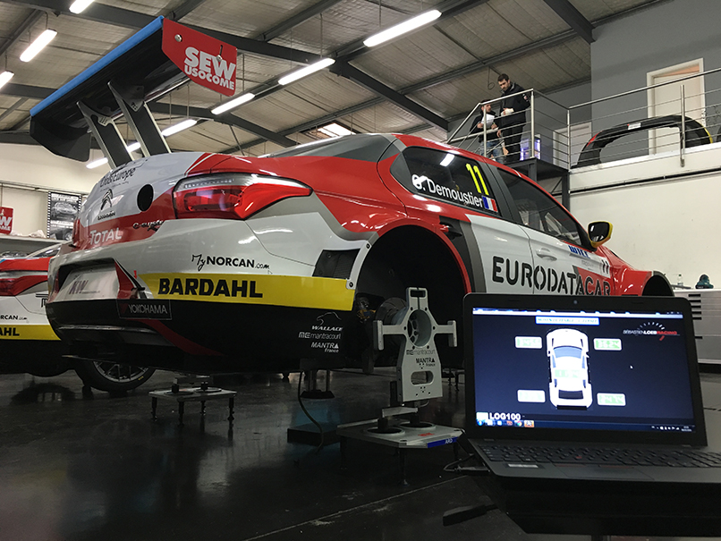 Mantracourt Takes Pole Position in Race Car Weighing