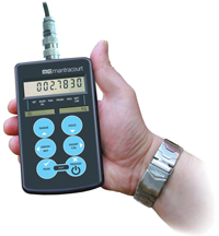 Handheld strain gauge indicator PSD shown with new round button label