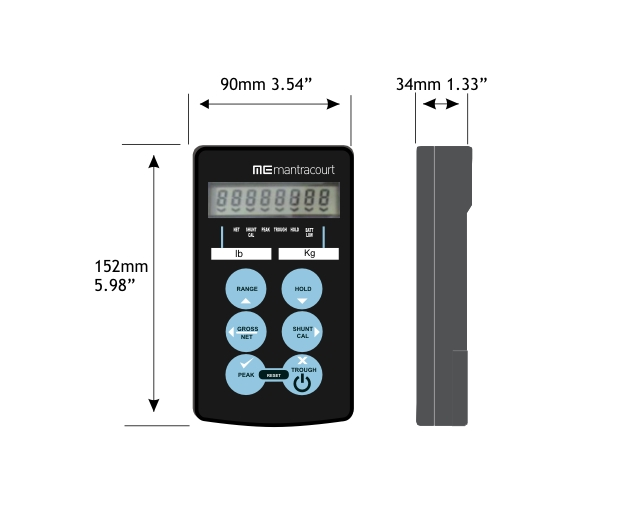 Hand Held Load Cell Display