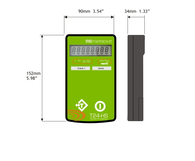 Wireless load indicator handheld with a single input case dimensions